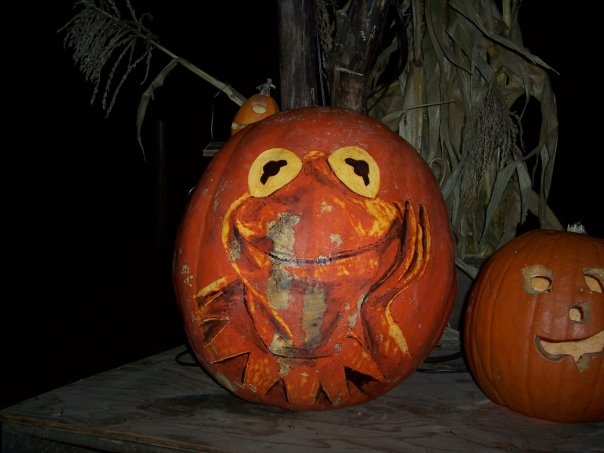 Kermit the Pumpkin